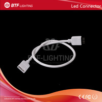 20pcs 30cm length RGB 4Pin connector White Extension Wire Cable Connect Female Plug To LED Strip Light for RGB 5050 3528