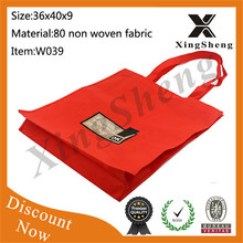 2015 Wholesale!!fashion promotion non woven shopping bag for names different types bags