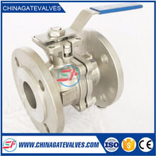 2-PC Ball Valves Flange End Full Port JIS 10K ISO Direct Mounting Top Flange