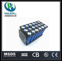 18650 lithium ion battery 3S11P 12V 24Ah rechargeable battery pack