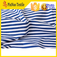 2015 hot sale high quality jersey fabric blue and white stripe fabric