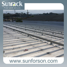 Drill-free Solar Panel Roof Mount Rack Rail Bracket Support Kit