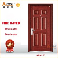 residential fire rated door security stainless steel wooden fire door with peephole