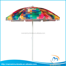 Umbrella Outdoor Shelter Colorful Kids Beach Umbrella with Valance & ABS Plastic Tilt