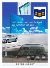 glass uv cured glue for laminated bulletproof glass for cars
