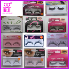 fake diamond false eyelashes / fake crystal lashes / strip eyelashes in pair