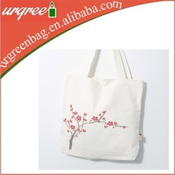 wholesale blank high quality cheap plain cotton canvas folding shopping bag