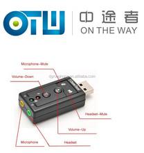 USB Sound Card,USB Virtual7.1Channel Sound Adapter,Add a Virtual 7.1 Channel Sound to your PC