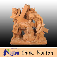 garden resin religious figure and cross statue NTRS067S