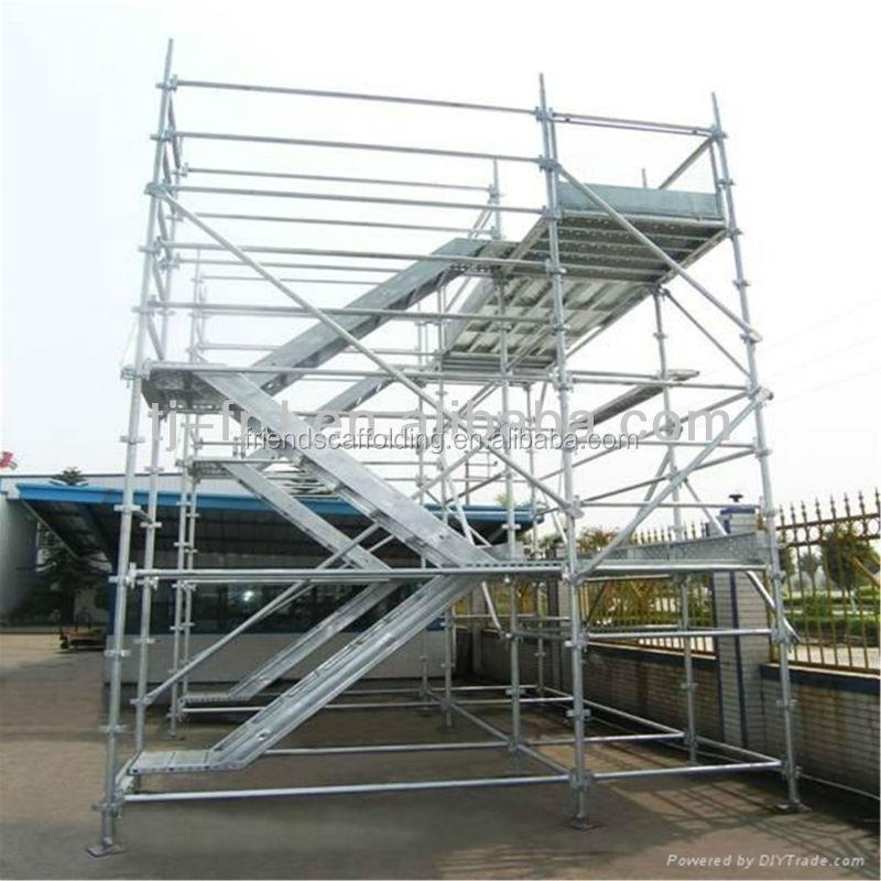 Galvanized Steel Scaffolding : Assembled scaffolding steel stairs galvanized scaffold