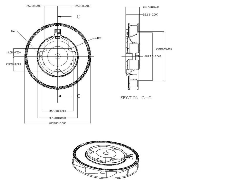 120mm 12 v ventilador centr u00edfugo de 12 voltios