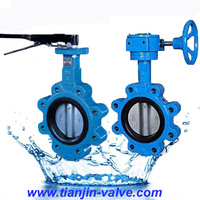 cast iron full lug type butterfly valve for 2015