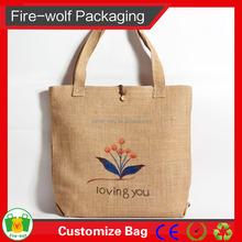 New Fashion ECO Friendly Jute Bag Nature Jute Shopping Tote Bag Wholesale