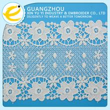 New arrival wholesale thick black african french embroidered applique chemical lace