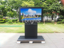 55inch LCD stand outdoor digital signage for supporting multiple video formats