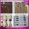 Alibaba Express Virgin Peruvian Hair Extension, Triple Weft Cheap 100% Human Hair Clip in Hair Extension 120/140/160/220g