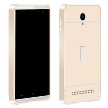 For vivo y28 mobile phone cover with metal bumper and slide back cover