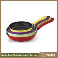 Die-casting non-stick kitchenware no oil aluminium fry pan