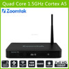zoomtak T5 Quad core android tv box Amlogic S805 Smart Android TV Box WIFI Mini HD Media Player Android TV Set Top Box