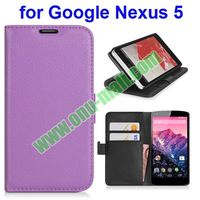 Best Chrismas Gift Wallet Leahter Case for Google Nexus 5