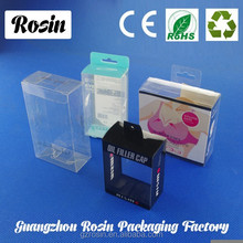 various shape Luxury earphone packaging with handle/clear pvc plastic window display for candle
