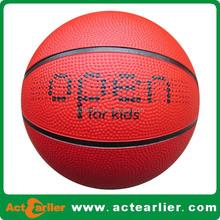 cheap custom print red black yellow rubber basketball size 7