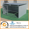 6'X10'X10' shed row style welded galvanized steel tubing dog kennel with roof shelter