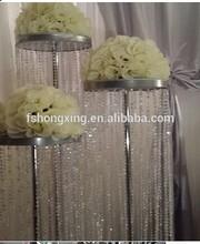 FS39 wedding centerpiece artificial flower ,tall acrylic flower stand centerpiece