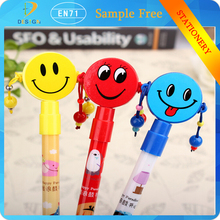 Creative novelty stationery ballpoint pen cute dial-button rattle shape stationery school office writing ballpen