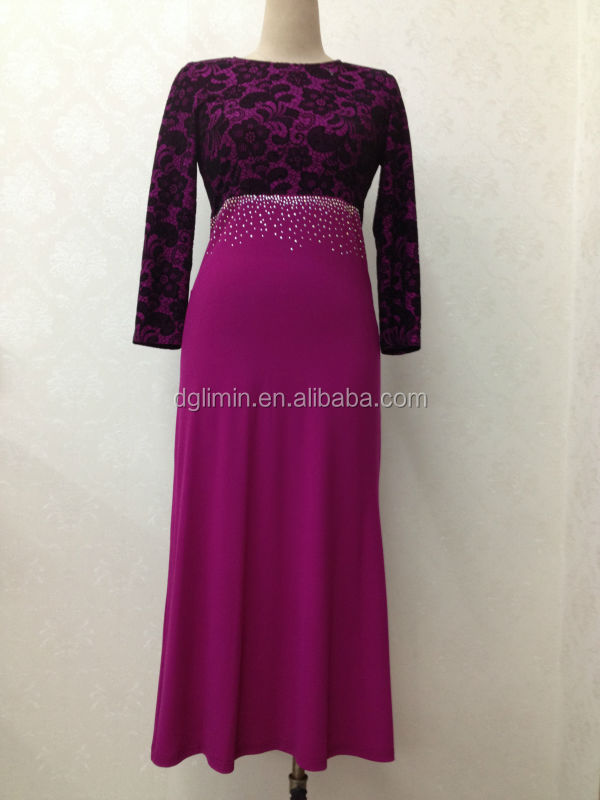 Blue Night Dress Party,Sequin 3d Flower Pattern,Lace Abaya Stitching ...