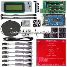 Electrónico 3d impresora junta 1.4 rampas y mega 2560 drv 8825 a4988 lcd2004 heatbed mk2a con el mejor precio