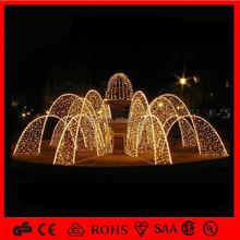 led christmas iron fountain light 2015 new design IP65