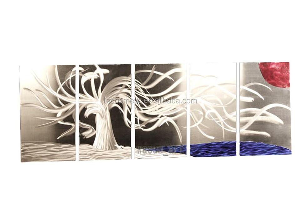 Wholesale metal wall art modern aluminium print painting Metal wall decor cheap