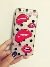 Mobile phone case beautiiful import sexi kiss lip accessory smartphone cases for iphone 6