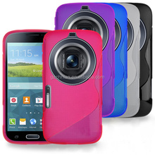 New Arrival Colorful Slim Fitted S-Curve Gel Case Cover for Galaxy S5 ZOOM GC200 For Galaxy K ZOOM