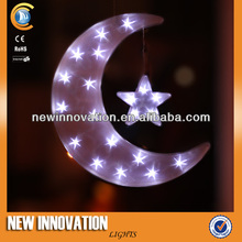 20L White LED PVC Moon and Star Battery Operated Hanging Light