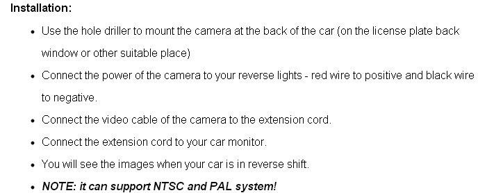 Автомобильная видеокамера заднего вида для toyota fortuner