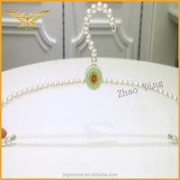 High end custom clothes hanger pearl for lingerie pearl clothes hanger
