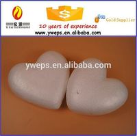 Polystyrene foam craft heart shape for decoration