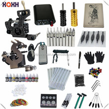 temporary tattoo kit with 20 ink,1rotary tattoo machine kits
