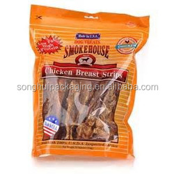 Plastic bag for chicken breast strips / chicken pouch / stand up pouch with window