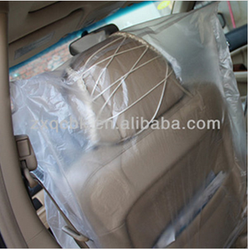 brand quality auto car seat cover/disposable car seat cover/clear platic car seat cover