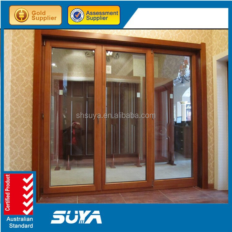 Aluminum Wood Composite Hinges Solid Wood French Window