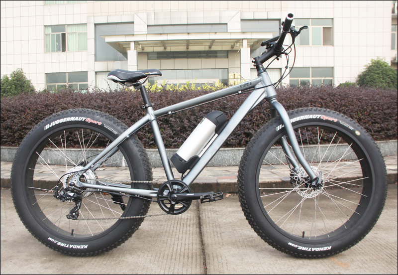 New electric bike with fat tyres for snowy road or beach supplied to Carrefour