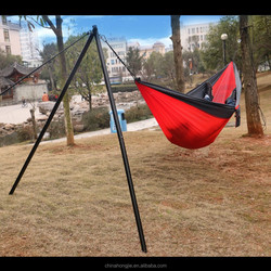 New style in 2015 Portative parachute or nylon camping hammock with stand