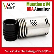 Mutation X V4 Atomizer 510 Vaporizer Cigarette wtih Wide Bore Drip Tips 22mm floating pin 5 colors DHL