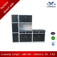 Durable metal furniture ready to assemble kitchen cabinets