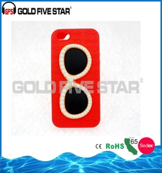 Custom Glasses shape silicone cover cheap mobile phone case for iphone