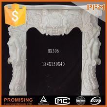 Luxury villa inside design stone decorative marble fireplace mantel design fire surrounds