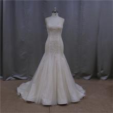 Sleeveless new model 2015 embroidered wedding dresses on sale